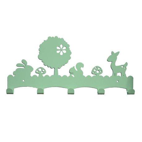 Eina Design Portemanteau Woodland 40x19cm métallique vert menthe