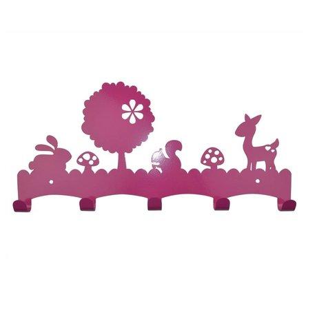Eina Design Kapstok Woodland donker roze metaal 40x19cm