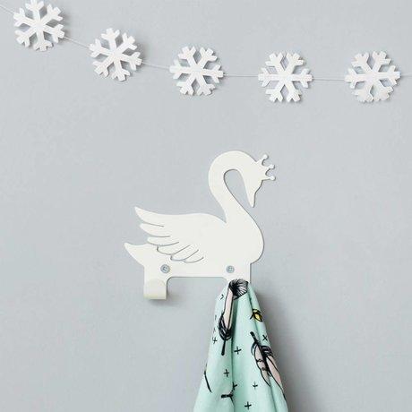 Eina Design Wandhaken Schwan weiß Metall 14x13cm