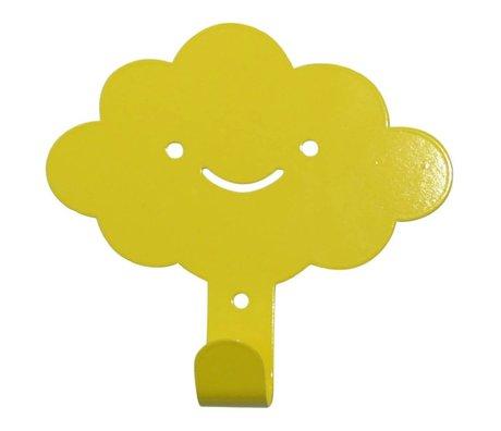 Eina Design Wandhaken Wolke gelbes Metall 14x13cm