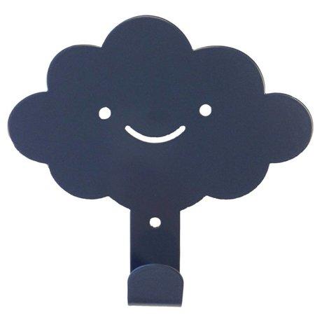 Eina Design Wandhaken Wolke anthrazitgrau Metall 14x13cm