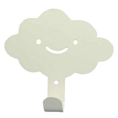 Eina Design Mur nuage Crochet métal blanc 14x13cm