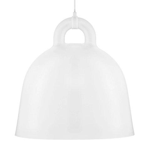 Normann Copenhagen Hanglamp Bell wit aluminium L Ø55x57cm