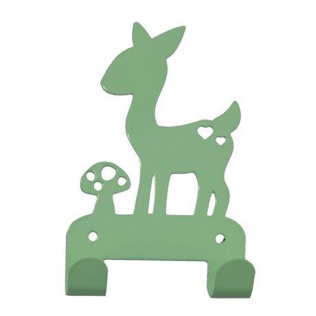 Eina Design Wandhaak deer mint-green metal 19x10,5cm