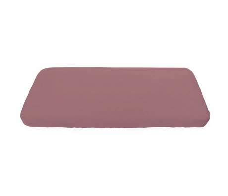 Sebra Baby Fitted Sheet old pink cotton 160x70cm