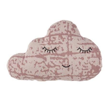 Sebra Cushion Callout old pink cotton 46x31cm