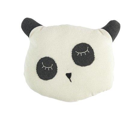 Sebra Kissen Panda weiße Baumwolle 34x8x29cm