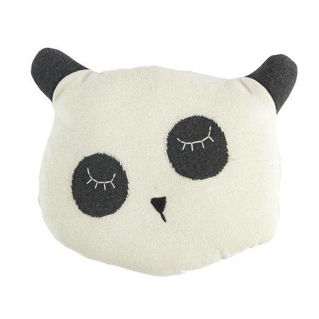 Sebra Cushion Panda white cotton 34x8x29cm