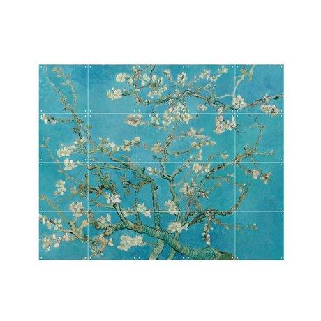 IXXI Wanddecoratie Van Gogh Amandelbloesem blauw papier S 100x80cm