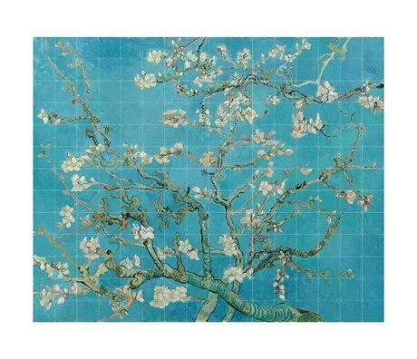 IXXI Wanddecoratie Van Gogh Amandelbloesem blauw papier XL 320x260cm