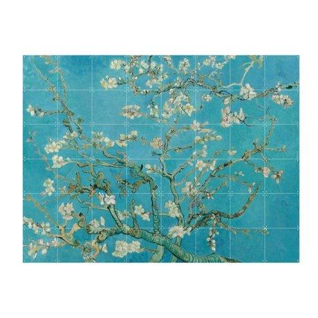 IXXI Wanddecoratie Van Gogh Amandelbloesem blauw papier L 160x120cm