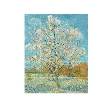 IXXI Wanddekoration Van Gogh Rosa Pfirsich-Baum buntes Papier S 80x100cm