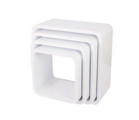 Sebra Opbergbox Square wit hout set van 4