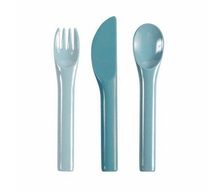 Sebra Children's cutlery blue melamine 14,5cm