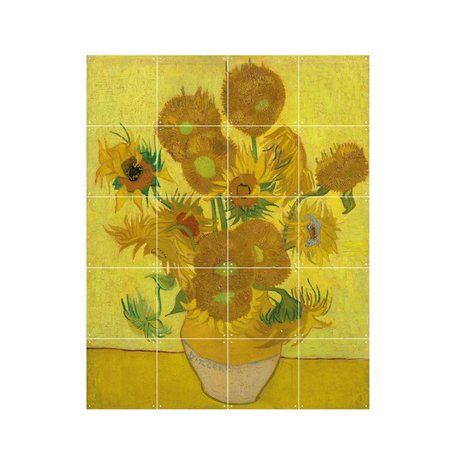 IXXI Wanddekor Van Gogh Sonnenblumen gelbes Papier S 80x100cm