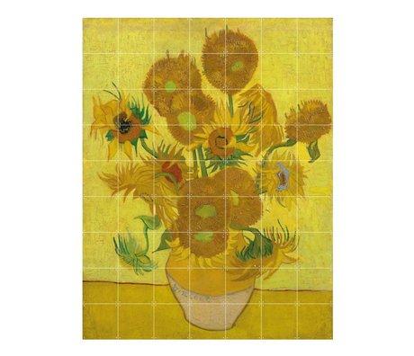 IXXI Wanddekor Van Gogh Sonnenblumen gelbes Papier L 140x180cm
