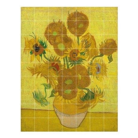 IXXI Décoration murale Van Gogh Tournesols papier jaune L 140x180cm