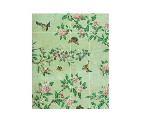 IXXI panneau de décoration murale d'un livre vert papier peint chinois S 80x100cm