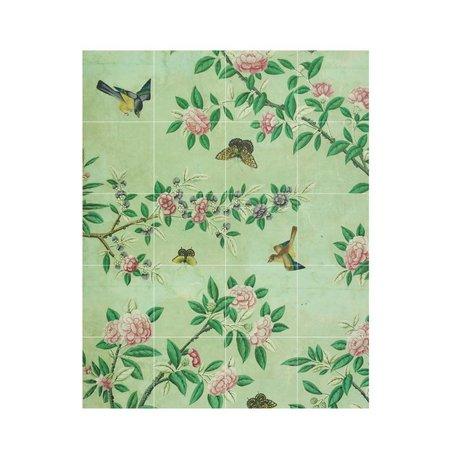 IXXI Wanddekoration Tafel eines chinesischen Tapeten Grünbuch S 80x100cm