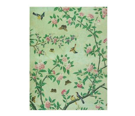 IXXI panneau de décoration murale d'un livre vert papier peint chinois L 100x140cm