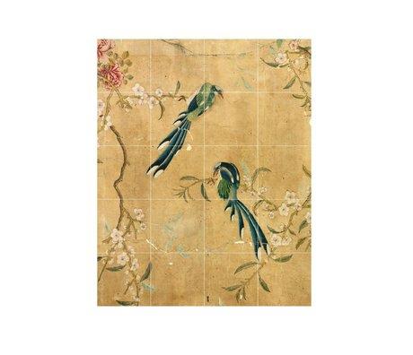 IXXI panneau de décoration murale d'un papier peint chinois papier brun S 80x100cm