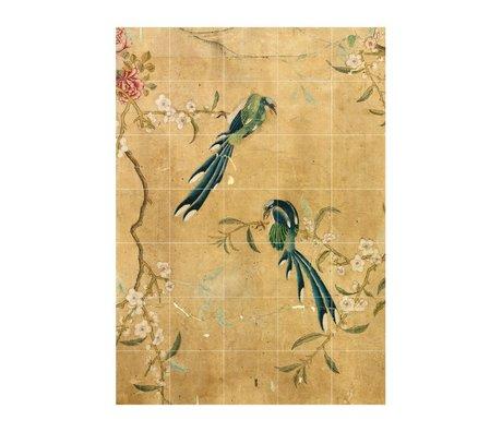 IXXI panneau de décoration murale d'un papier peint chinois papier brun L 100x140cm