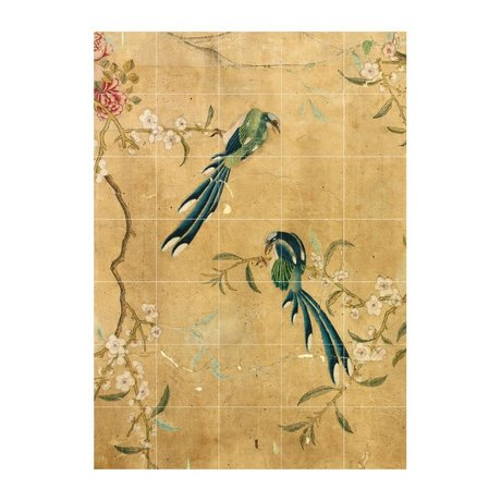 IXXI Wall decoration panel of a Chinese Wallpaper brown paper L 100x140cm