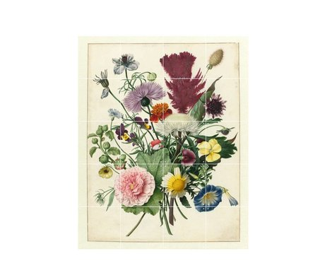 IXXI Wanddecoratie Anoniem Boeket bloemen multicolour papier S 80x100cm