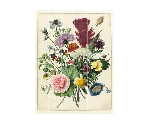 IXXI Décoration murale Anonyme Bouquet de fleurs papier multicolores L 120x160cm