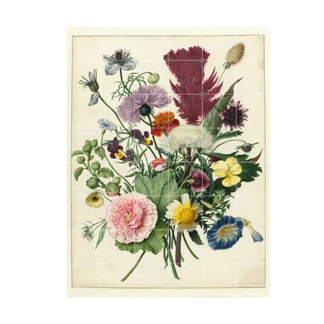 IXXI Wanddecoratie Anoniem Boeket bloemen multicolour papier L 120x160cm