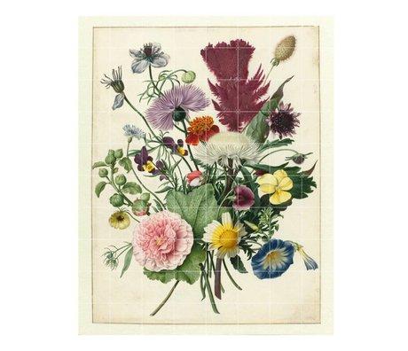 IXXI Wanddecoratie Anoniem Boeket bloemen multicolour papier XL 160x200cm