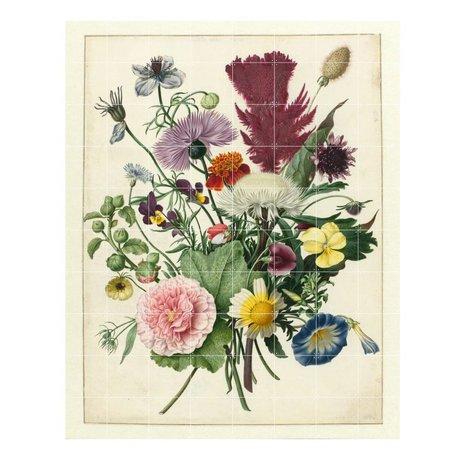 IXXI Décoration murale Anonyme Bouquet de fleurs papier multicolores XL 160x200