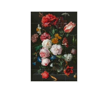 IXXI Wanddecoratie De Heem stilleven met bloemen multicolour papier S 80x120cm
