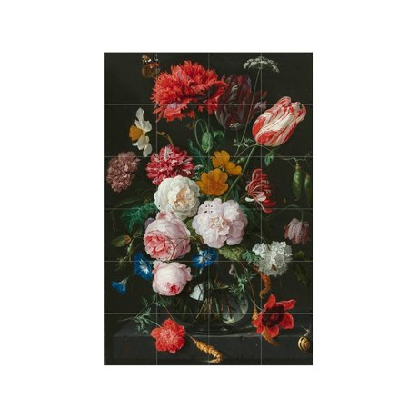 IXXI Wall Decoration Heem still life with flowers multicolour paper S 80x120cm