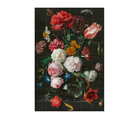 IXXI Wall Decoration Heem still life with flowers multicolour paper L120x180cm