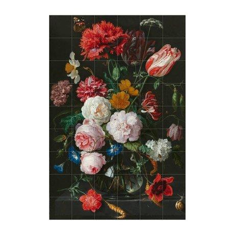 IXXI Wanddecoratie De Heem stilleven met bloemen multicolour papier L120x180cm