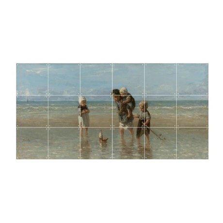 IXXI Wanddeko Israel Kinder des Meeres Mehrfarbenpapier S 120x60cm