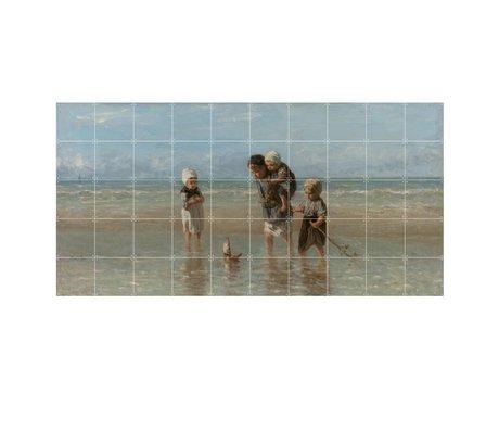 IXXI Wanddeko Israel Kinder des Meeres Mehrfarbenpapier L 200x100cm