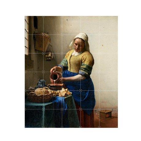 IXXI Wanddecoratie Vermeer Het melkmeisje multicolour papier S 100x120cm