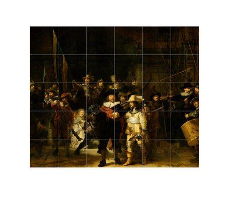 IXXI Wall Decoration Rembrandt's Nightwatch multicolour paper S 120x100cm