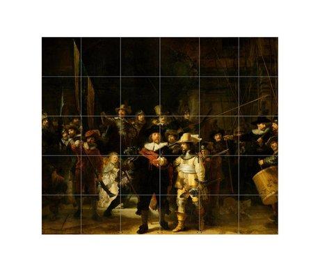 IXXI Wanddecoratie Rembrandt De nachtwacht multicolour papier S 120x100cm