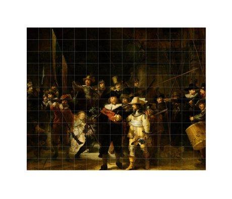 IXXI Wanddecoratie Rembrandt De nachtwacht multicolour papier L 300x240cm