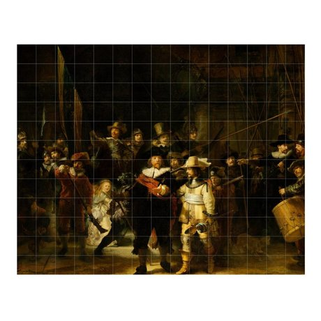 IXXI Wall Decoration Rembrandt's Nightwatch multicolour paper L 300x240cm