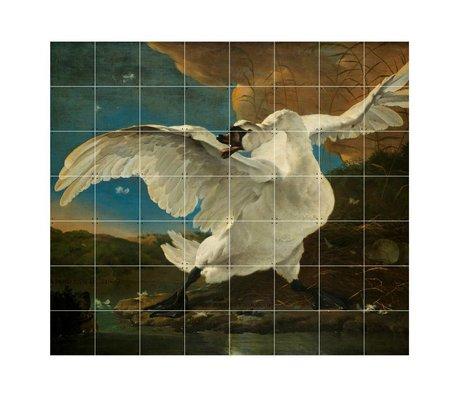 IXXI Wall decoration Asselijn The Threatened Swan multicolour paper L 160x140cm
