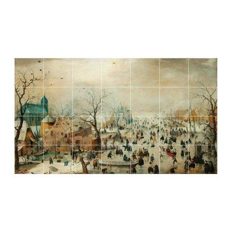 IXXI Wall decoration Avercamp Winter Landscape with Skaters multicolour paper S 140x80cm