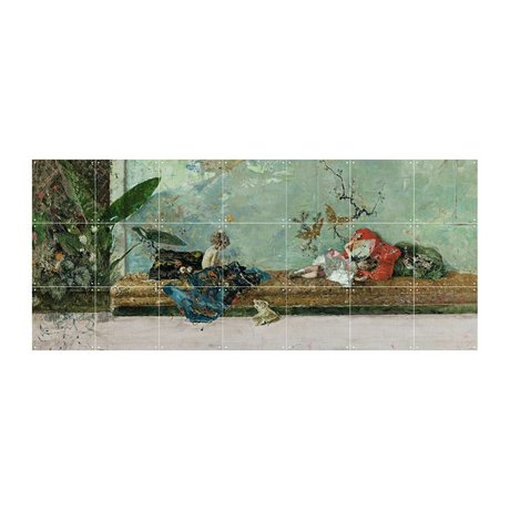 IXXI Wall decoration Fortuny The painter's children multicolored paper S 140x60cm