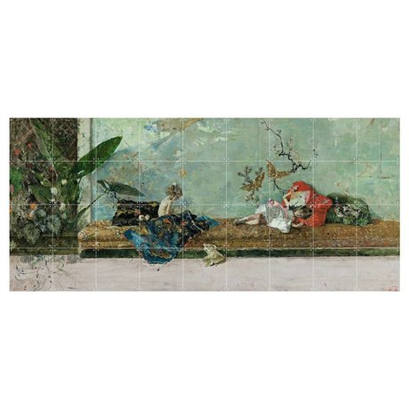 IXXI Wall decoration Fortuny The painter's children multicolored paper L 180x80cm