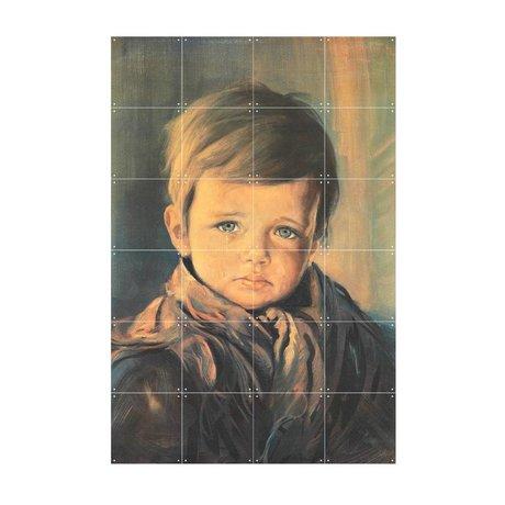 IXXI Wanddekoration Schreiender Junge Mehrfarbenpapier S 80x120cm