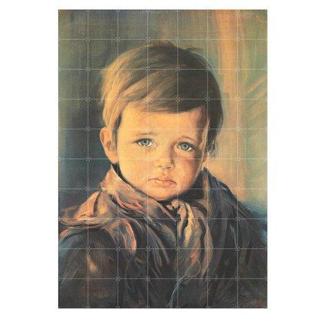 IXXI Wanddekoration Schreiender Junge Mehrfarbenpapier L 140x200cm
