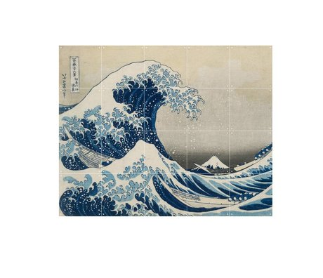 IXXI Wall decoration Hokusai The great wave blue paper S 100x80cm